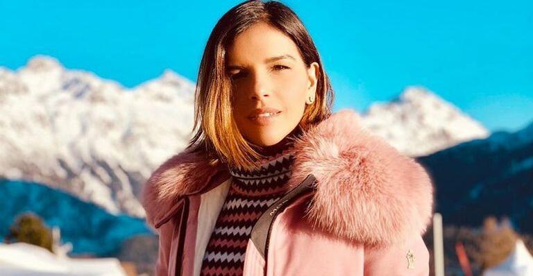 De férias na Suíça, atriz surge plena em foto após levar tombo na neve