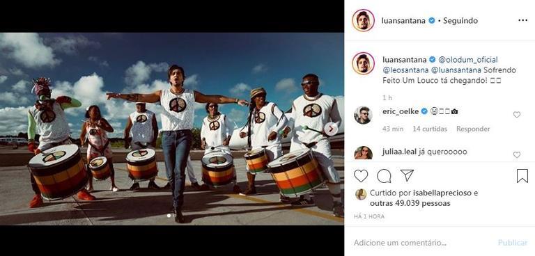 Luan Santana divulga fotos gravando seu novo single na Bahia