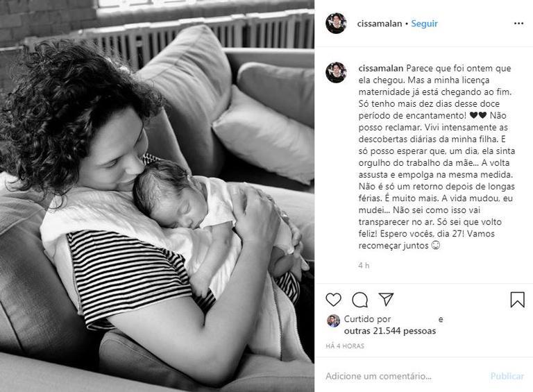 Jornalista da Globo desabafa sobre maternidade
