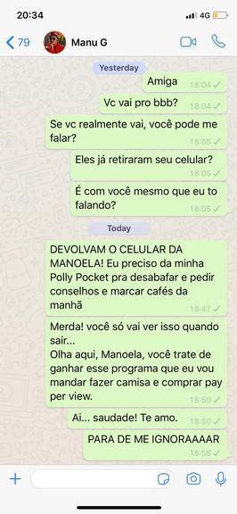 Bruna Marquezine manda mensagem para Manu Gavassi