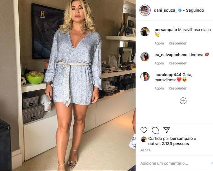 Dani Souza exibe curvas poderosas em look ousado