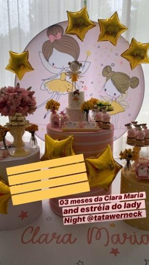 Tatá Werneck e Rafa Vitti comemoram 3 meses de Clara Maria