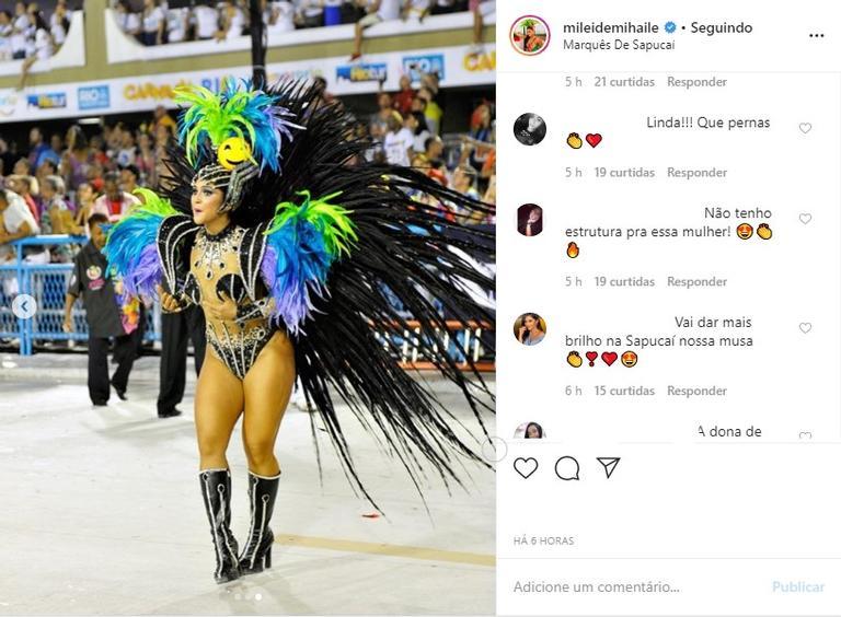Mileide Mihaile em Carnaval