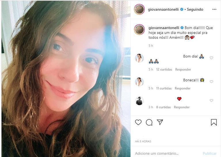 Giovanna Antonelli sem maquiagem