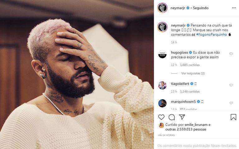 Neymar Jr. manda indireta para crush e famosos reagem