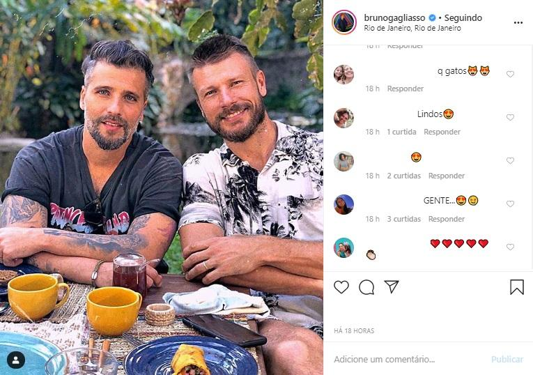 Bruno Gagliasso e Rodrigo Hilbert
