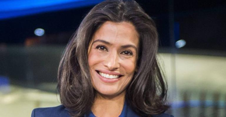 Renata Vasconcellos posa na Globo e marmita se destaca: ''Famosa levando marmita''