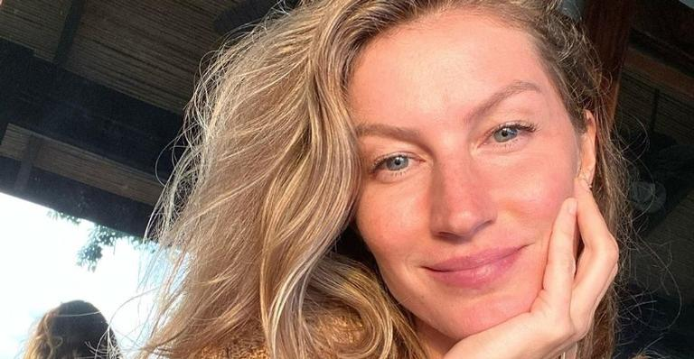 Gisele Bündchen encanta seguidores ao esbanjar plenitude em clique