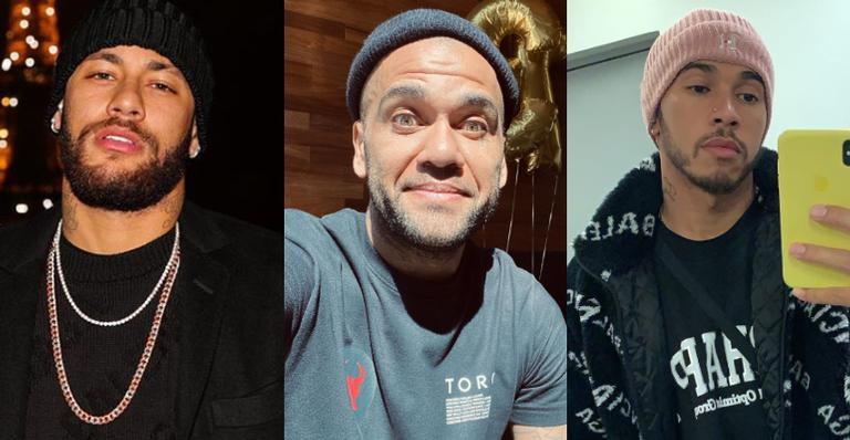 Daniel Alves posta clique raro ao lado de Neymar Jr. e Lewis Hamilton e agita web