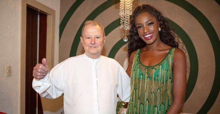 Iza lembrou com carinho de Luizinho Drumond, presidente da Imperatriz Leopoldinense
