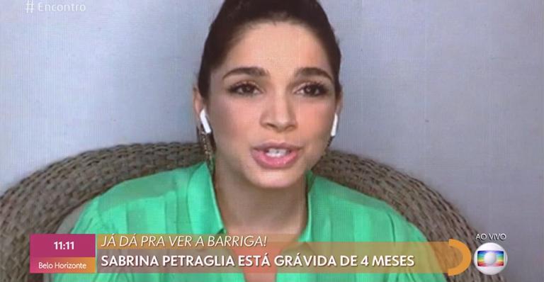 No Encontro, Sabrina Petraglia desabafa sobre segunda gravidez
