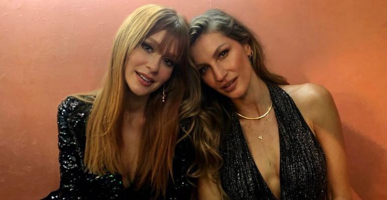 Marina Ruy Barbosa parabeniza Gisele Bündchen com clique lindíssimo: ''Feliz aniversário''