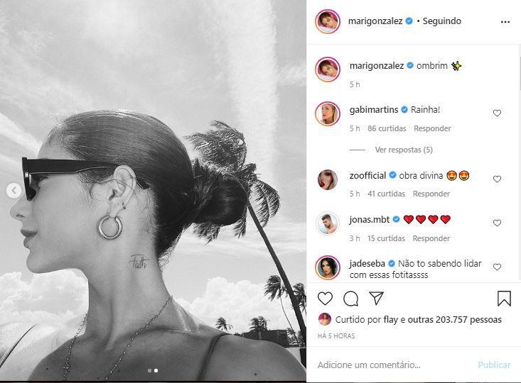 Mari Gonzalez posta clique deslumbrante e arranca elogios