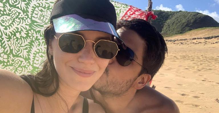 Nathalia Dill comemora primeiro Dia dos Pais do namorado: ''Feliz''