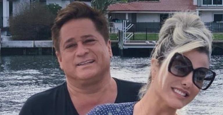 Poliana Rocha encanta internautas ao compartilhar vídeo beijando seu marido, Leonardo