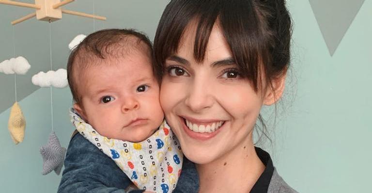 Benjamin, filho de Titi Müller, encanta ao surgir de cabelo cortado
