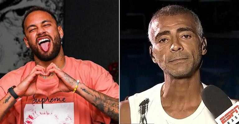 Neymar Jr. parabeniza Romário na web: ''Rei''