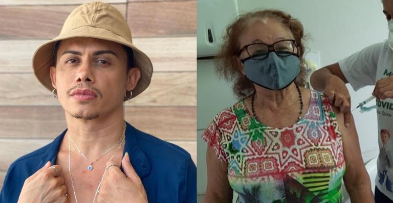 Silvero Pereira exibiu toda sua felicidade ao ver a mãe totalmente imunizada contra a Coivd-19