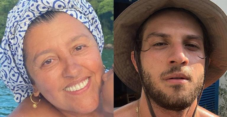 Regina Casé publica foto ao lado de Chay Suede e dispara: ''Tantos significados''