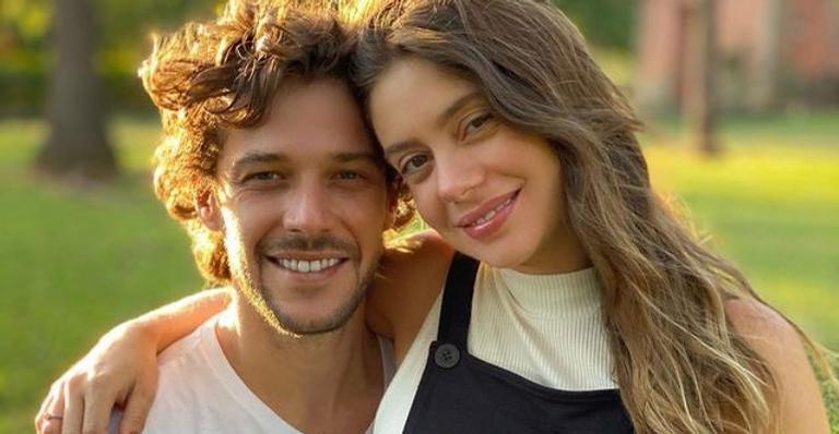 Jayme Matarazzo e Luiza Tellechea comemoram 3 meses de Antonio com festa ao ar livre