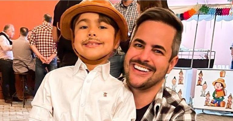 Kaká Diniz celebra sete anos do filho Henry: ''O papai te ama de forma irrevogável!''