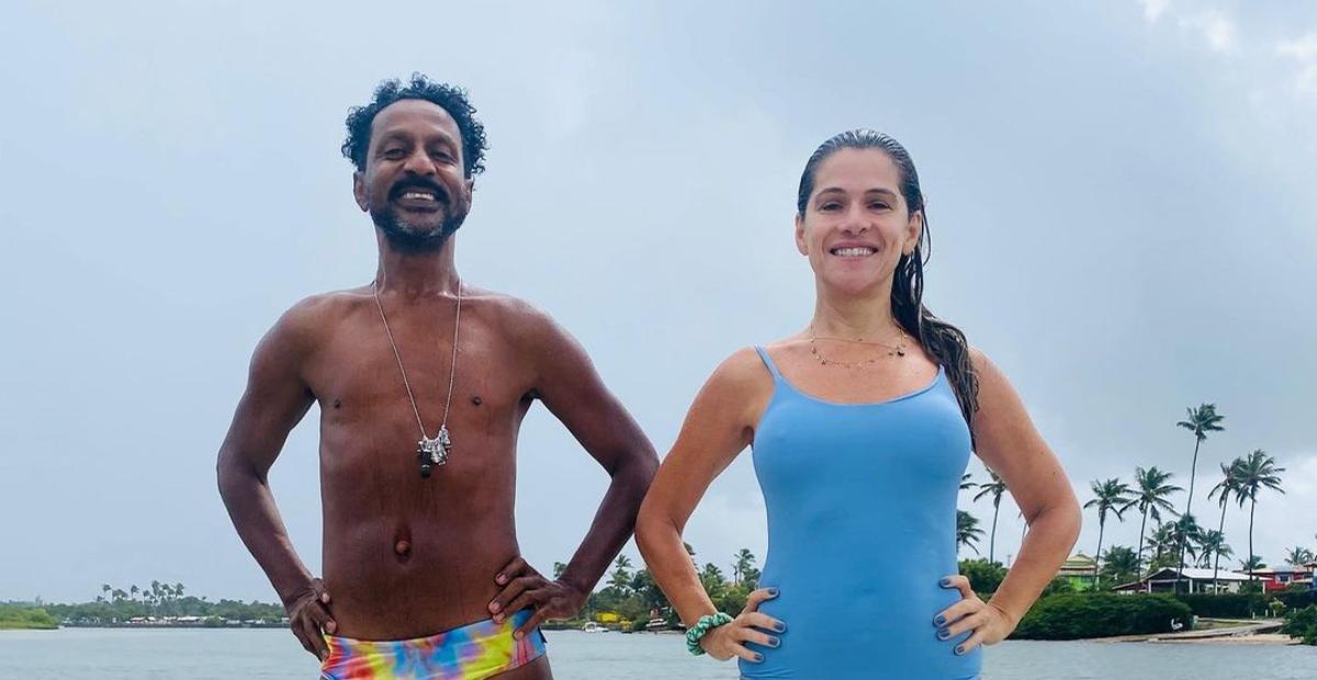 Ingrid Guimarães curte a companhia de Luís Miranda ao visitar a Bahia: ''A Bahia cura''