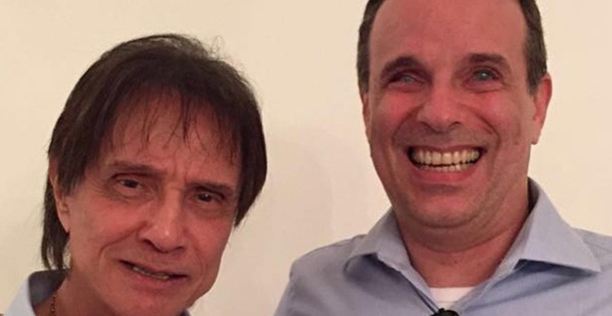 O cantor Roberto Carlos agradeceu as mensagens de apoio que recebeu após a morte de Dudu Braga