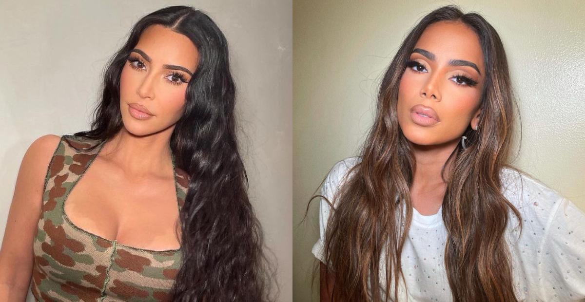 Kim Kardashian surpreende os seguidores ao compartilhar clique com Anitta