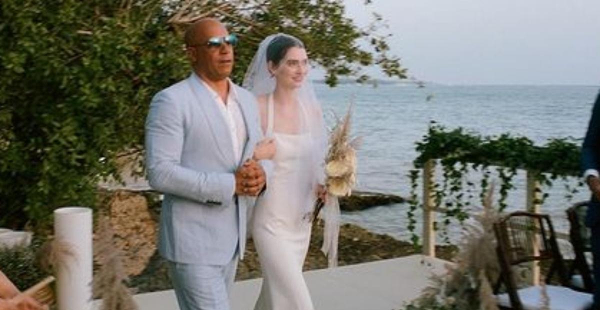 Filha de Paul Walker se casa e é conduzida por Vin Diesel ao altar